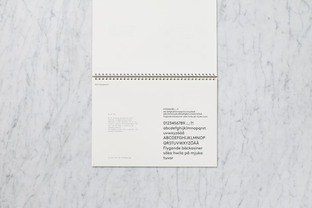 Svegro Identity | Graphical Manual Font