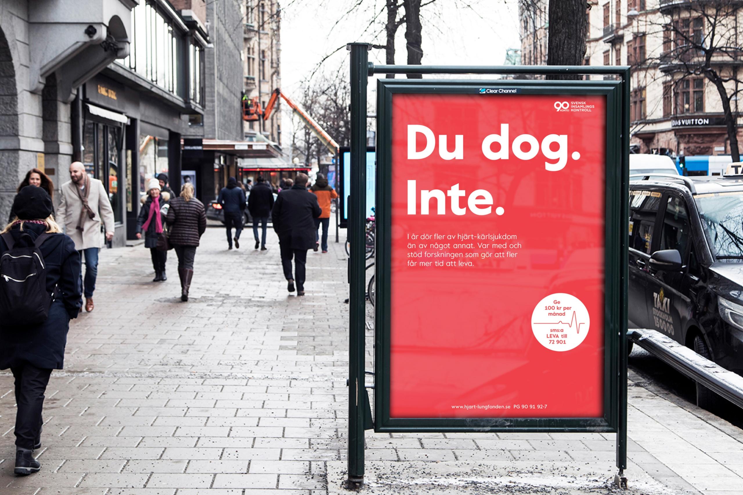 Hjärt-Lungfonden Outdoor Campaign | We Are ÖPPET
